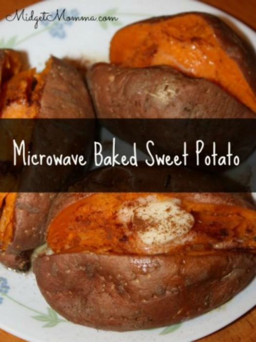 Microwave Baked Sweet Potato. Get the amazing taste of baked sweet potatoes but quicker using the microwave with Microwave Baked Sweet Potatoes!