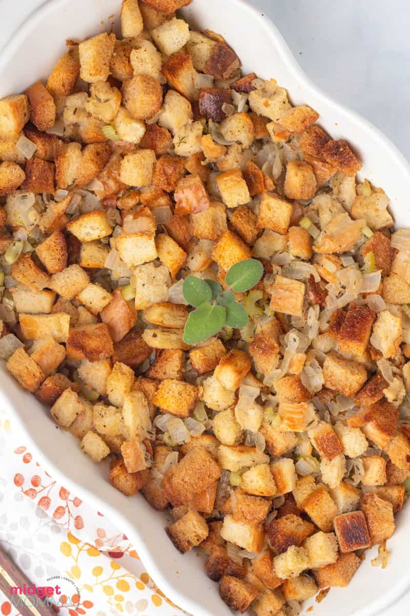 Rosemary Sage Homemade Stuffing