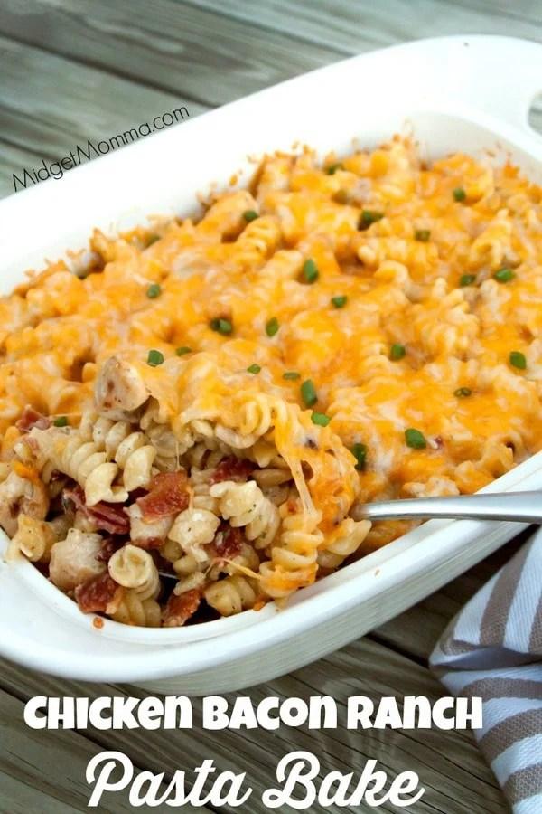 Chicken Bacon Ranch Pasta