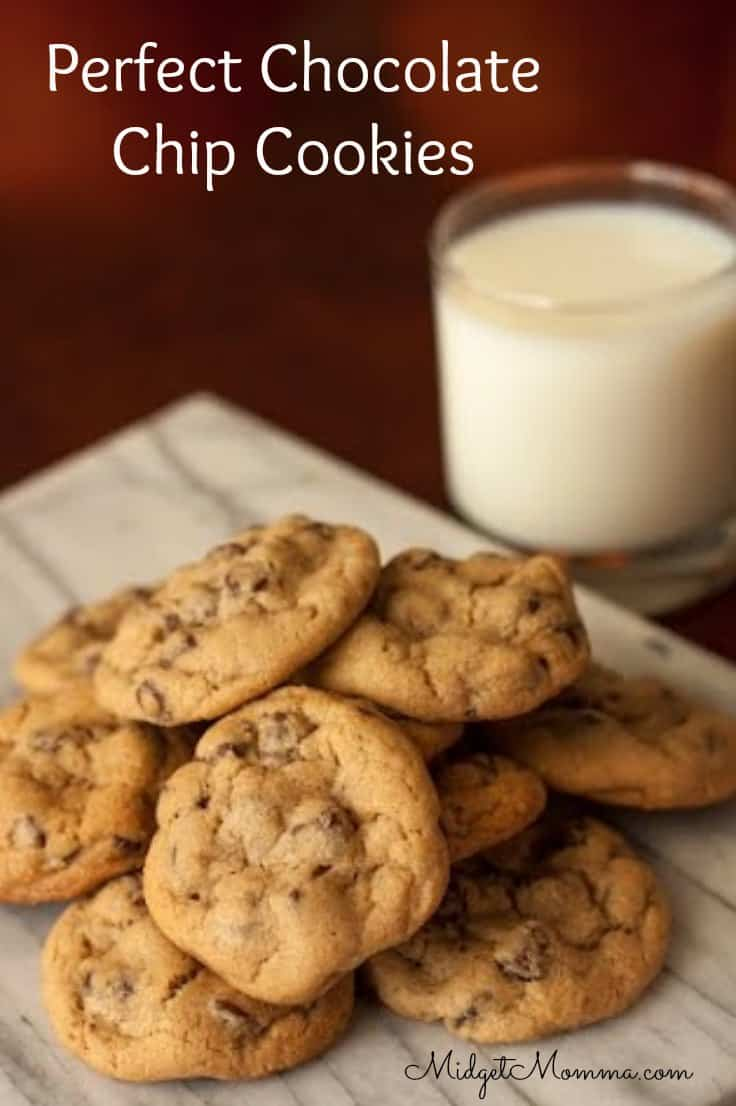 This is the perfect chocolate chip cookie recipe that your family will love. These are a perfect combination of chewy with a bit of crunch.