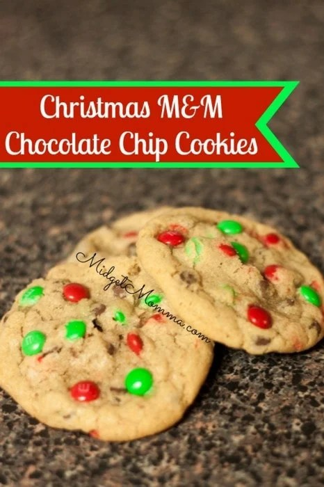This cookie recipe is great because you get a taste of chocolate in every single bite. You can change up the color of m&m's to match any holiday.