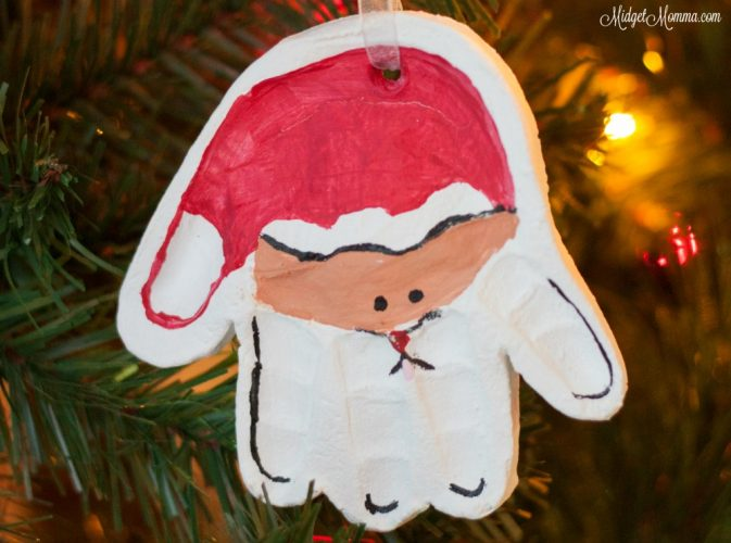 Handprint Santa Ornament