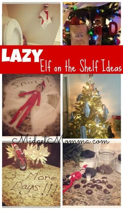 Lazy Mom Elf on the shelf Ideas