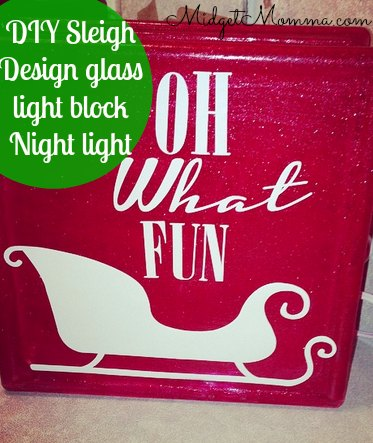 DIY Sleigh Design glass light block Night light