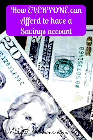 how everyone can afford to have a savings account
