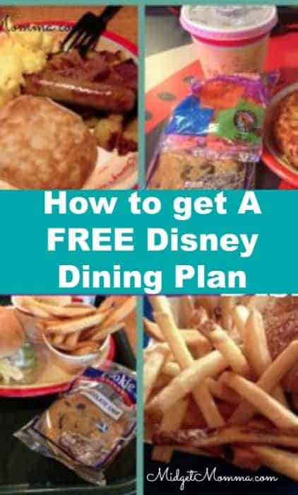 How to get A FREE Disney Dining Plan
