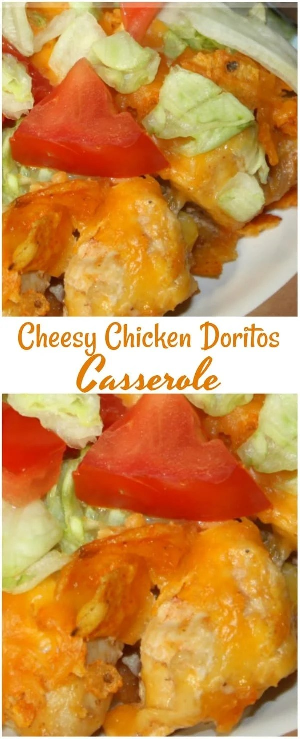 Easy Cheesy Chicken Doritos Taco Casserole