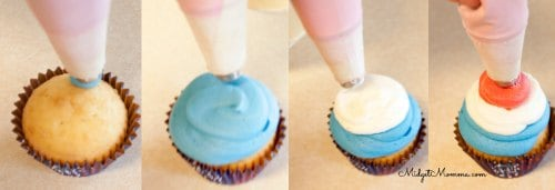 how to swirl icing on a cupcake