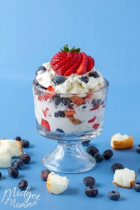Strawberry Blueberry Trifle 4th Of July Dessert
