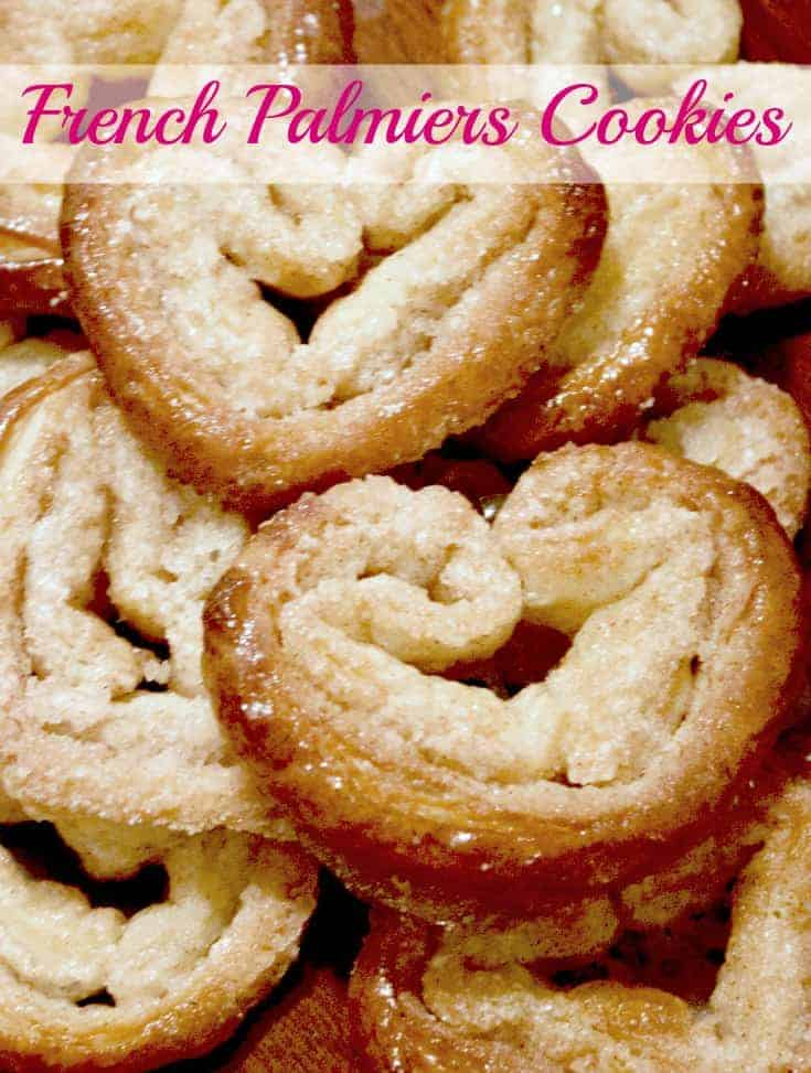 French Palmiers Cookies, Easy French Palmiers Cookies, Puff pastry French Palmiers Cookies, Elephant Ear cookies, 3 ingredient French Palmiers Cookies
