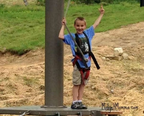 Logan Sky ropes killington vermont