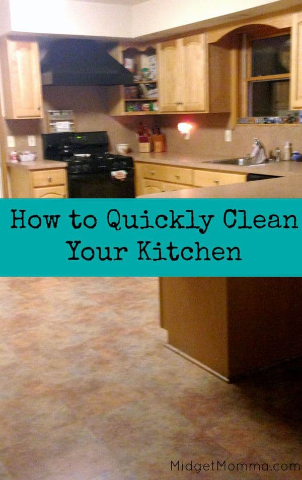How to clean your kitchen Quickly