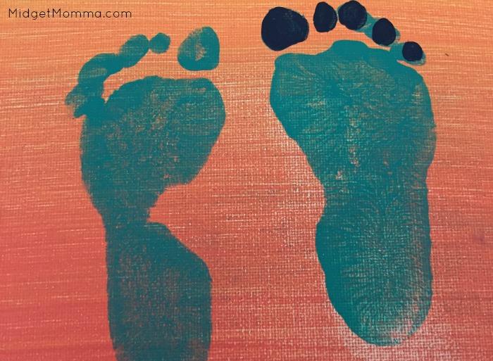 FrankenFoot Kids Foot Print Art