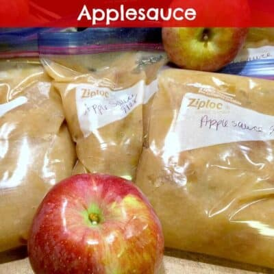 Freeze Homemade Applesauce. Step by step instructions on how to freeze homemade applesauce. You will see just how easy it is to Freeze Homemade Applesauce.
