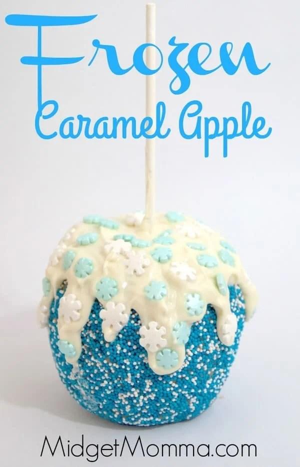 Frozen Themed Caramel Apple With Homemade Caramel