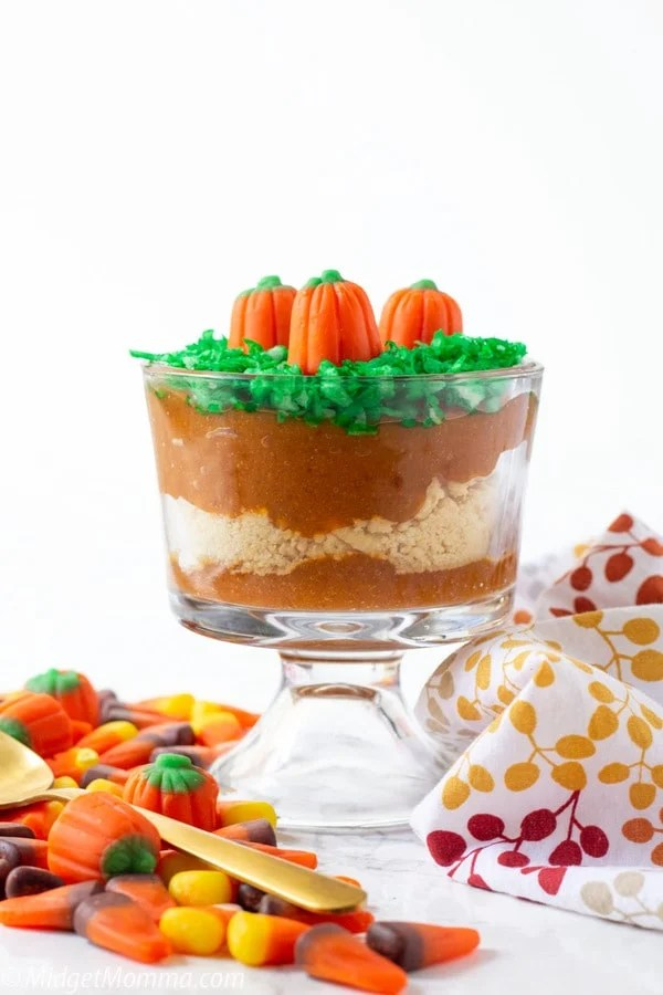 Pumpkin Patch Dirt Cups Pudding Parfaits