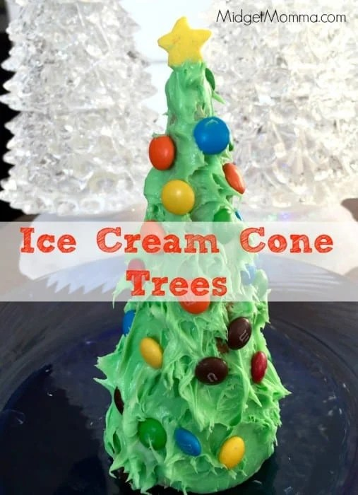 This Ice Cream Cone Trees crafty is one that kids will love and they can eat it when they are done making their Ice Cream Cone Trees