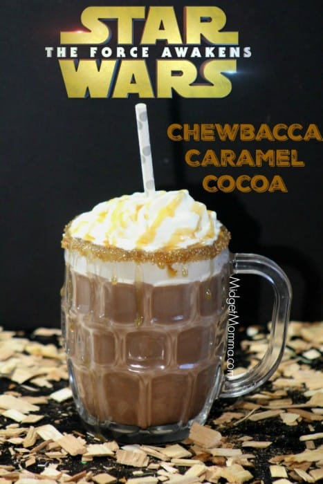 Chewbacca Caramel Hot Chocolate. Made with Ghirardelli chocolate and Ghirardelli caramel. The combination is inspired by Chewbacca from the Star Wars Movies.