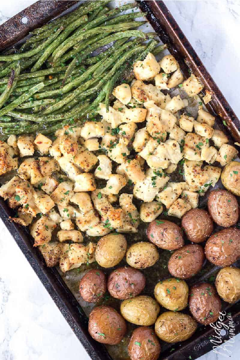 One Pan Baked Chicken and Veggies