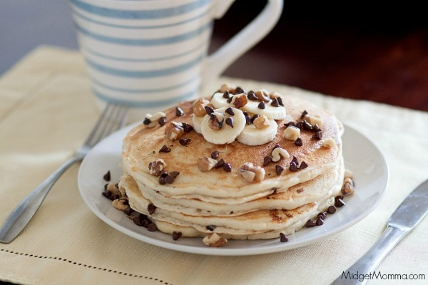 Chunky Monkey Pancake breakfast