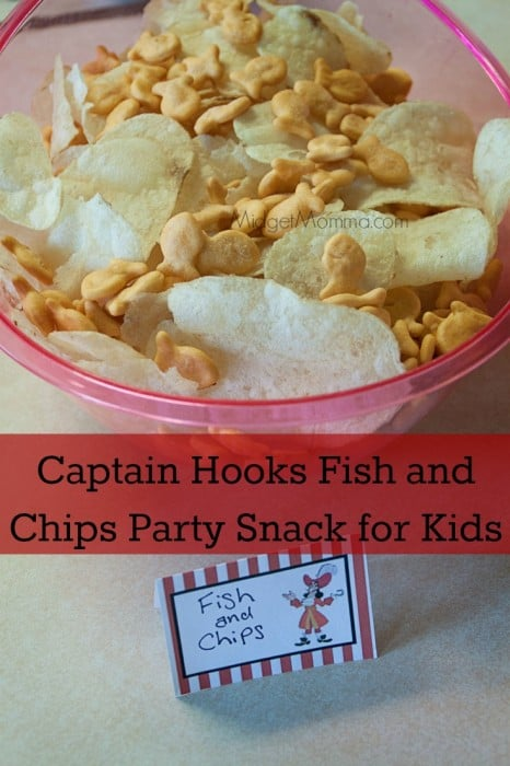 Captain Hooks Fish and Chips Party Snack for Kids is a quick and easy snack to make for a Disney party or any party for kids.