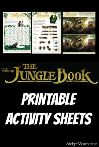 Disney's THE JUNGLE BOOK Printable Activity Sheets
