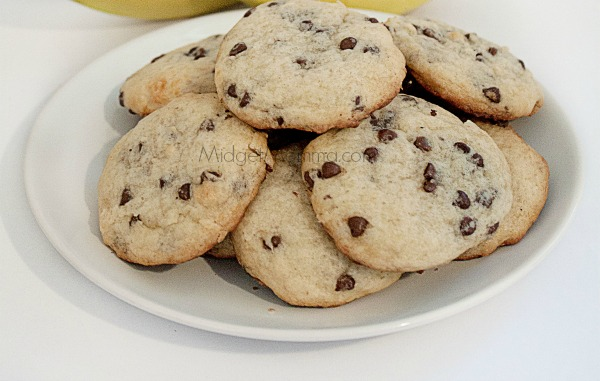 Egg Free Banana Chocolate Chip Cookies