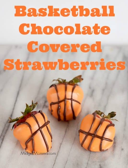 Basketball Chocolate Covered Strawberries. Great for sports parties and father's day. Step by step directions to make them perfect