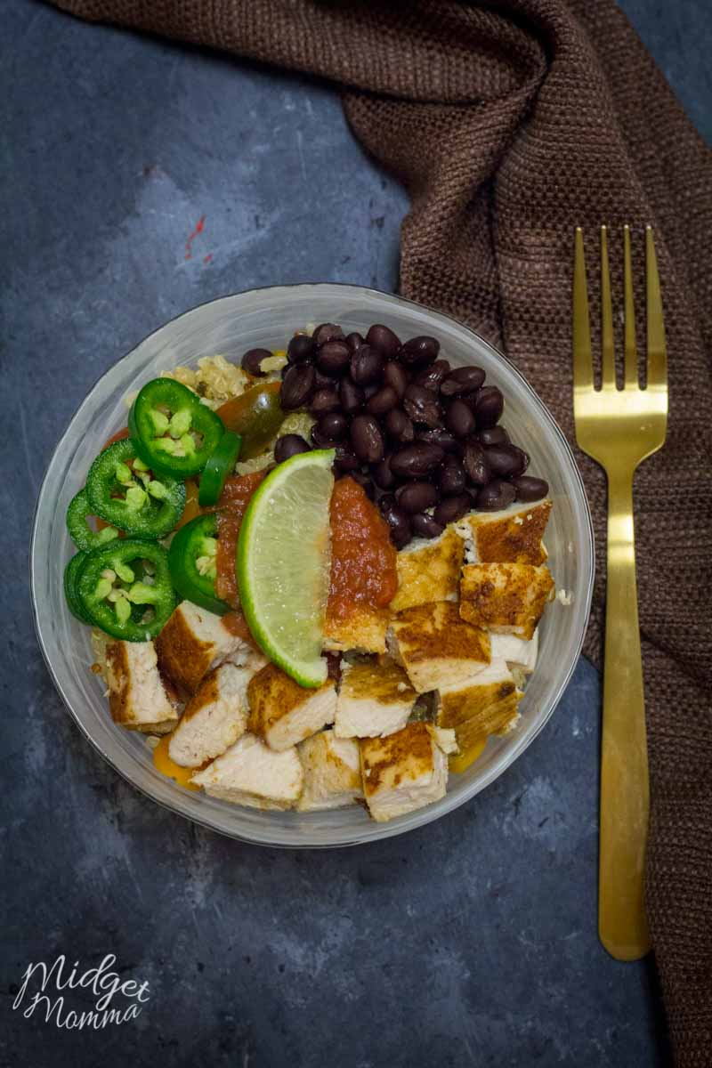 Chicken Quinoa Burrito Bowl