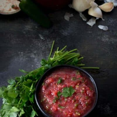 Bowl of homemade salsa