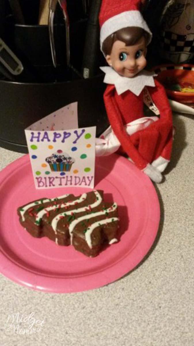 Elf on the shelf birthday idea