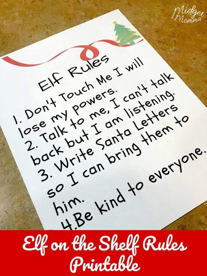 elf on the shelf rules