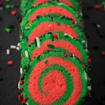 Christmas Whoville Pinwheel Cookies Recipe