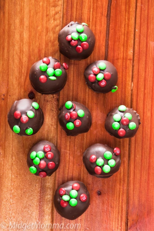 Holiday Chocolate Peanut Butter Balls