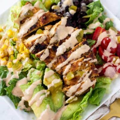 Chicken Taco Salad with Chili Lime Chicken