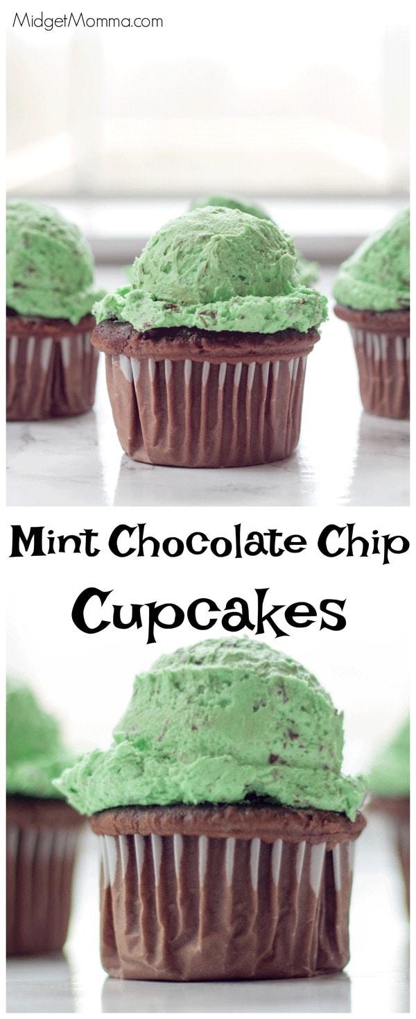Mint Chocolate Chip Cupcakes MidgetMomma
