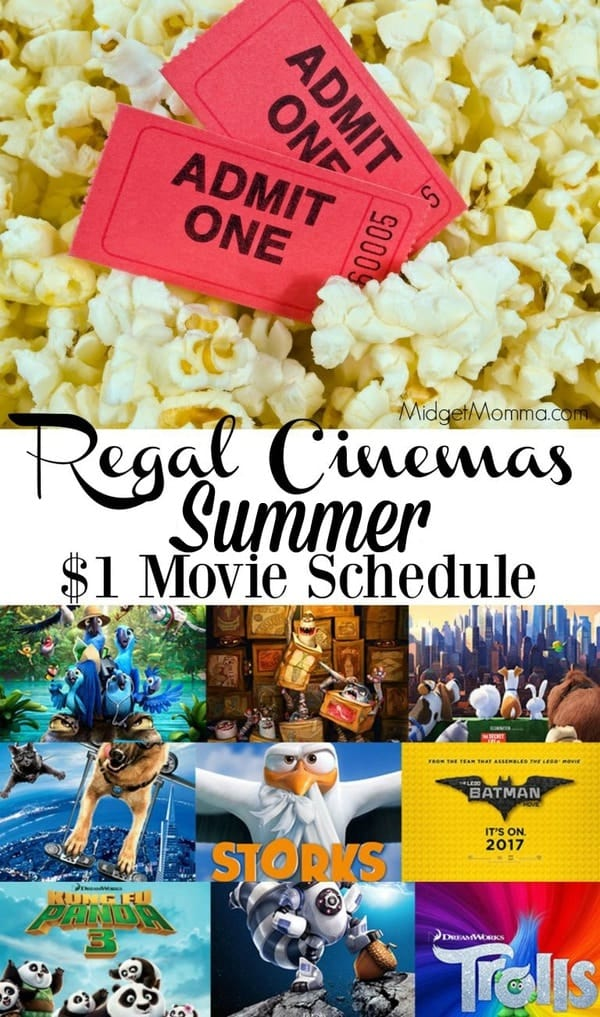 Regal Summer Movies - AMC Summer Movies for just $1!