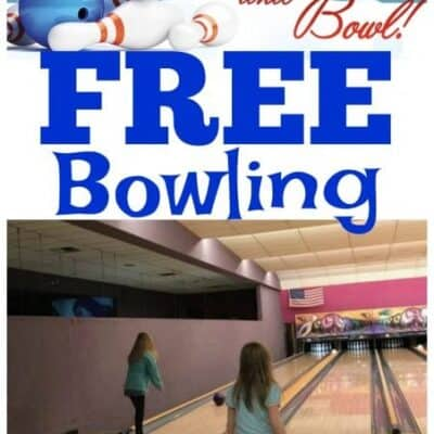 FREE Bowling for Kids All summer long with the Kids Bowl FREE Program!