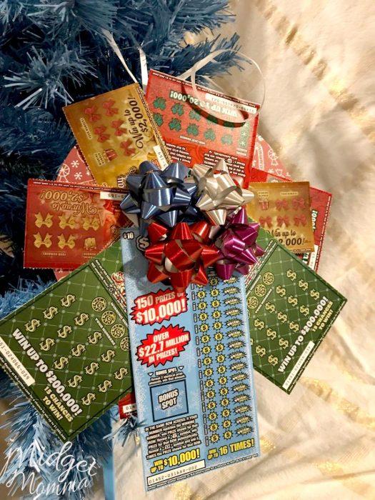 DIY Lottery Ticket Ornament