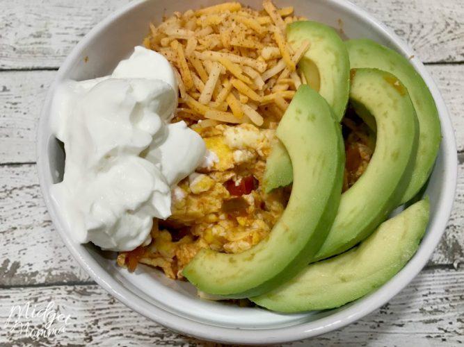 Keto Friendly Mexican Egg Bowl