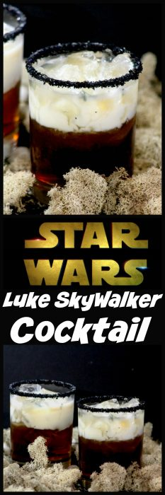 If you are looking for an amazing Star Wars drink to make while you sit down with the kiddos to watch Star Wars: The Last Jedi then you are going to love thisLuke Skywalker cocktail!