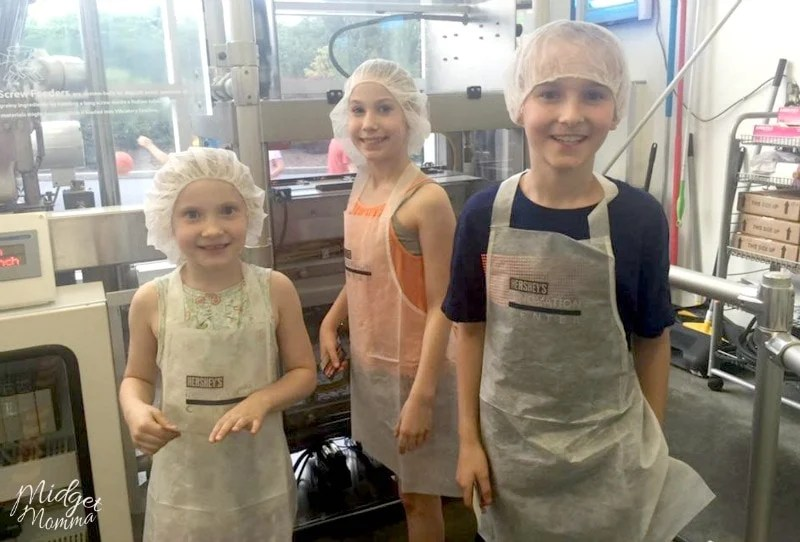 Make your own hershey bar at Hershey park