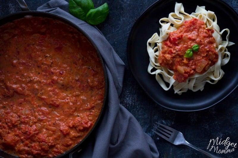 how to make creamy pasta sauce