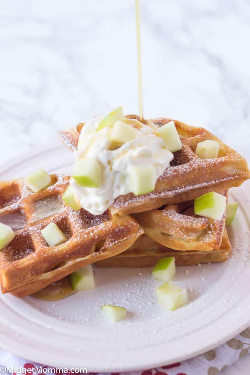 Apple waffles recipe