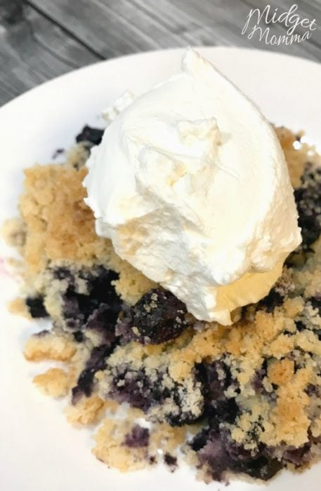 keto blueberry cobbler