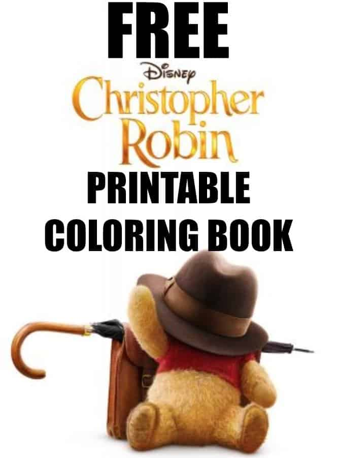 FREE Christopher Robin Movie Coloring Book Printable
