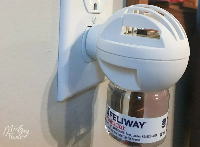 Feliway MultiCat Diffuser plugged into wall