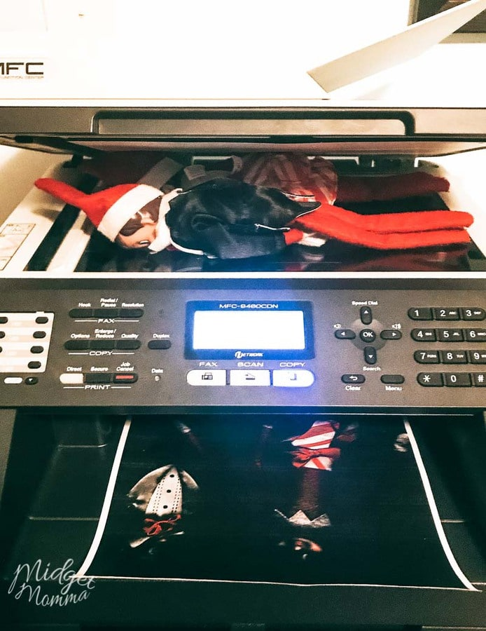 Elf on the Shelf Ideas for toddlers- Elf photocopies themselves