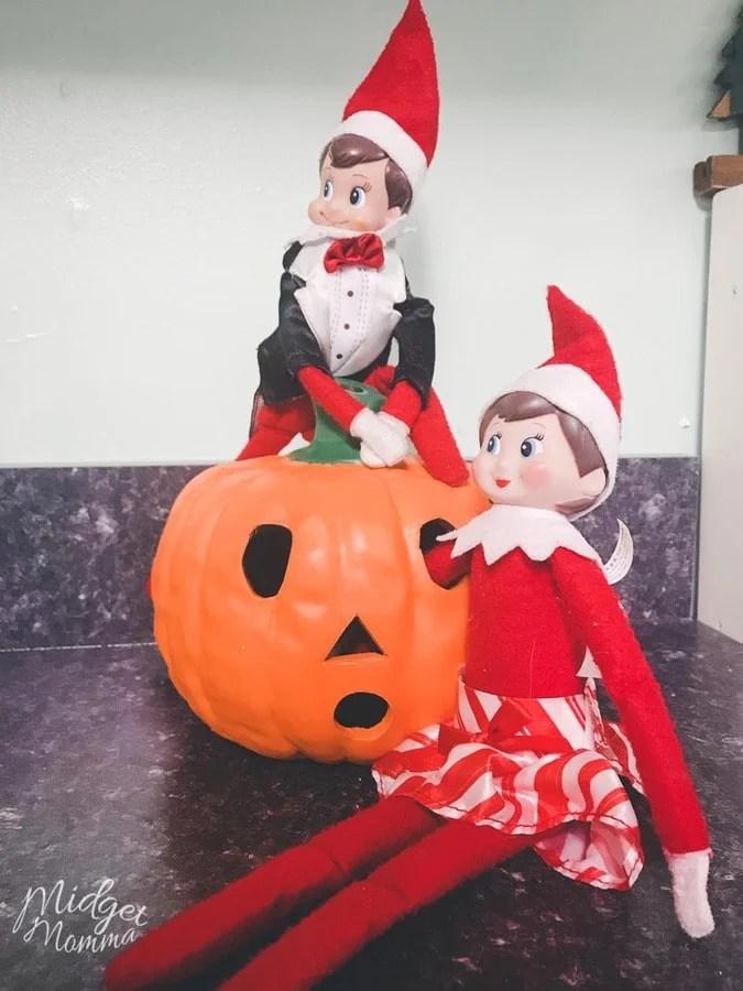 Elf on the Shelf Ideas- Elf on the Shelf Decorate for Halloween