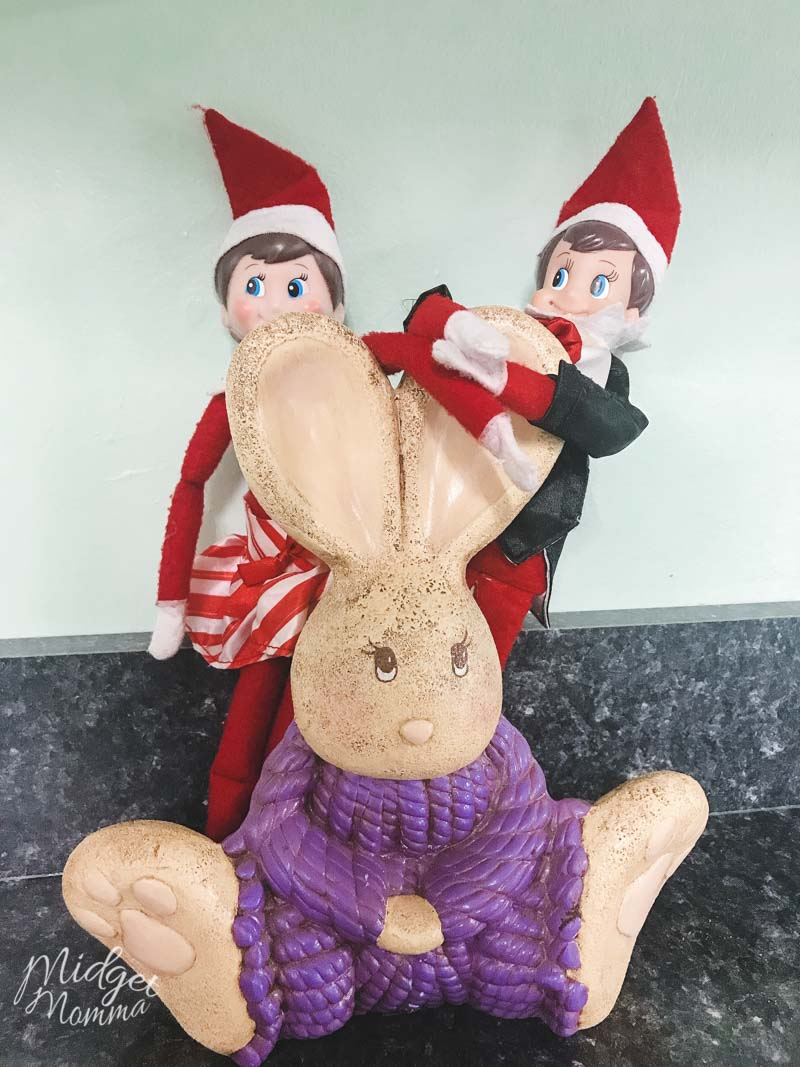 Elf on the Shelf Ideas- Elf decorate for Easter